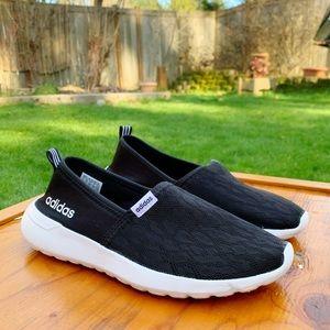 Adidas Cloud Foam Slip Ons 🖤